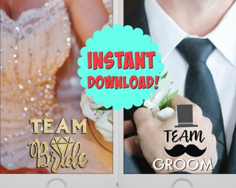 Snapchat Bundle Bride and Groom Wedding Geofilters | Instant Download!