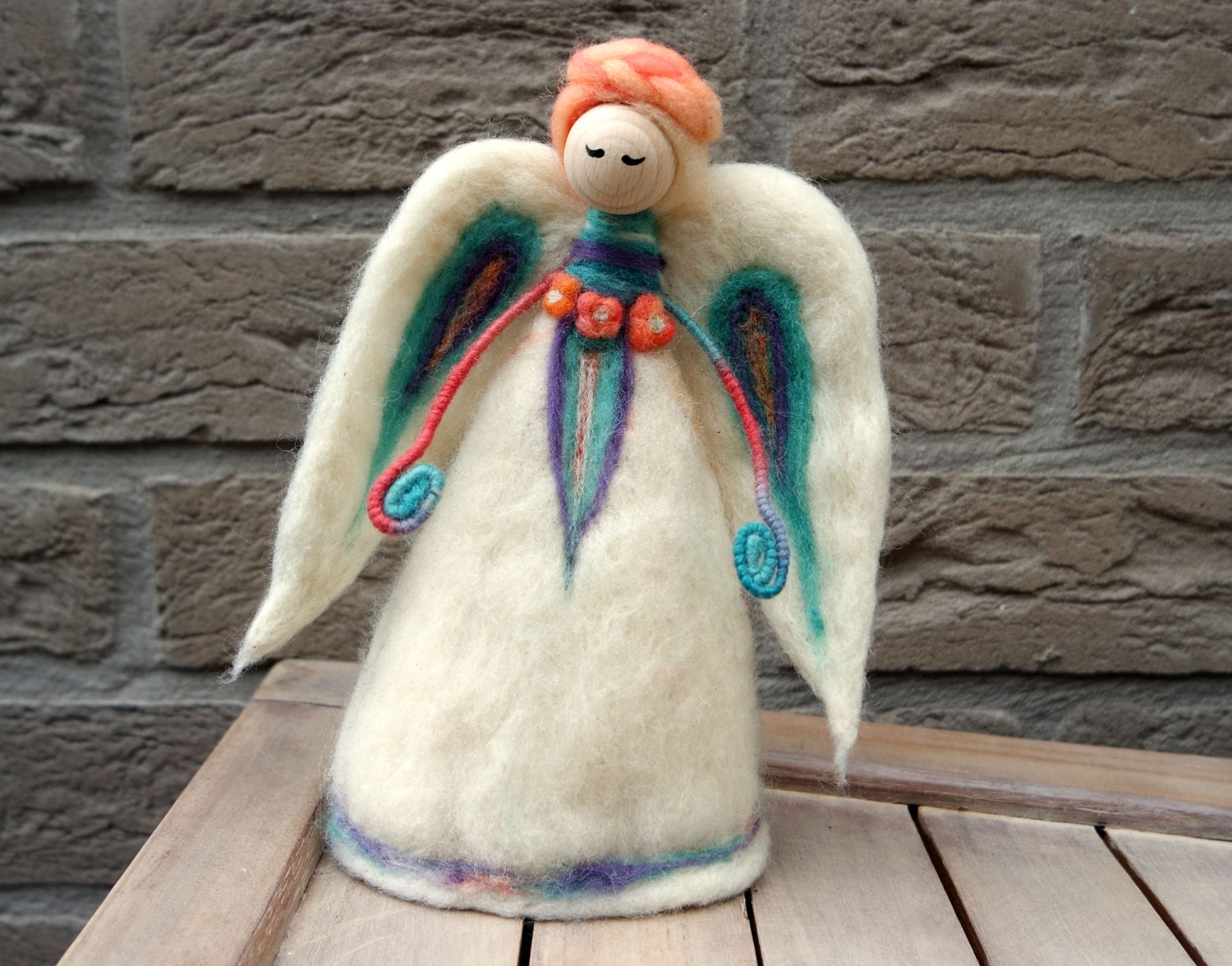 Felt Angel Christmas Angel Tree Topper Wool Angel Needle