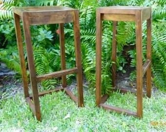 Bar Stools- Modern Barstools- Rustic Barstools- Backless Barstool- Wood Counter Stools- Modern Wood Stools- Kitchen Counter Stools-
