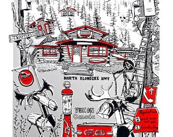 Moose Creek Lodge Hand Pulled Print
