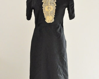 1940s dress/French vintage dress/Vintage dress/retro dress/1940s original dress