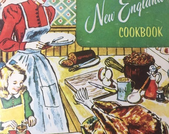 The New England Cookbook Vintage 191 recipes in this good condition paperback