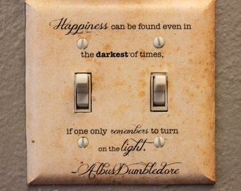Albus Dumbledore Quote Double Light Switch Plate Harry Potter