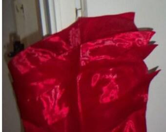 Long shiny red dress T36/38-S/M