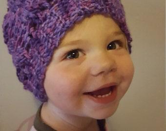 Crochet slouchy toddler hat