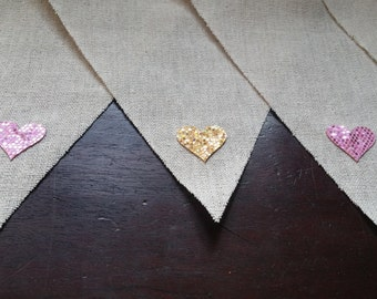 Blingy Heart Bunting