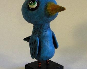 Blue Bird Folk Art Sculpute