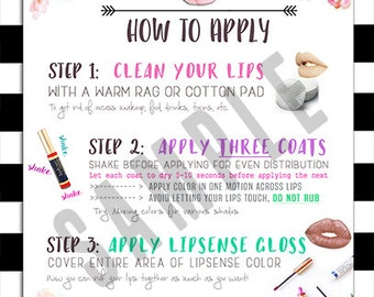 how to apply lipsense instructions