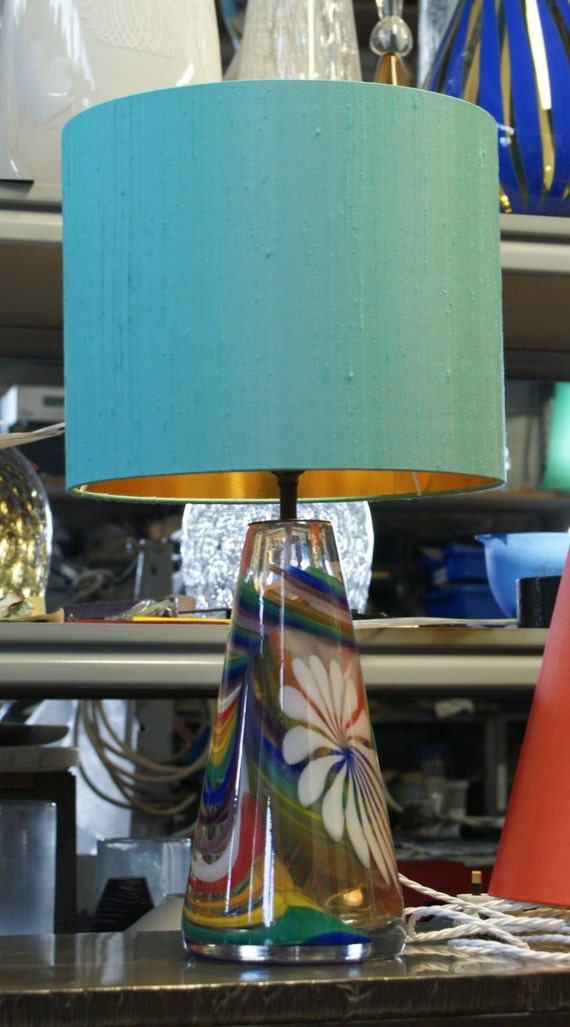 Genuine Anthony Stern new hand blown artglass lamp sold direct from the Studio