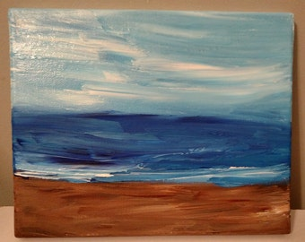 8 x 10 Abstract Beach Landscape