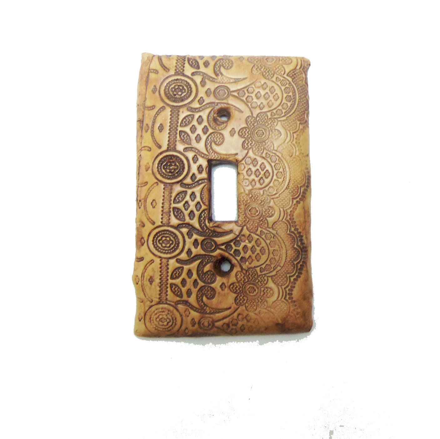 Decorative Steampunk Switch Plate Clay Vintage Lace Light