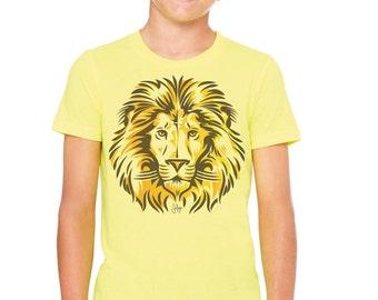 Bold Lion: Kid's Unisex Soft Blend T-Shirt