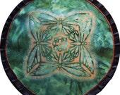 Mythala: Lively Green Butterfly; Mandala...Myth...Mythala (May use as Wall Hanging, Altar Cloth, Prayer, Meditation, Sacred Art, Devotional)