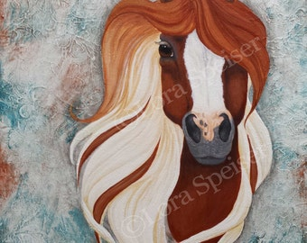 Instant Download  Chestnut Paint Horse Print Your Own Wall Art Painting Printable DIY 8x10 inches