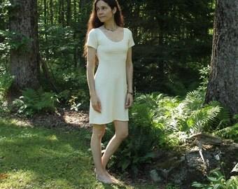 short sleeve hemp dress - 100% hemp and organic cotton - custom made order