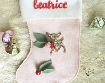Personalized  Felt Christmas Stocking -  Cheery Cordial