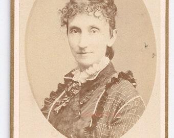 Baltimore cdv Bendann woman victorian vintage photo fashion