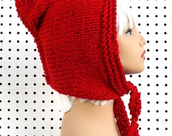 Knitting Pattern Hat, Knitted Hat, Pixie Hood Pattern, Knit Hood Pattern, Mermaid of Atlantis Knit Pattern, Oversized Knitting Pattern
