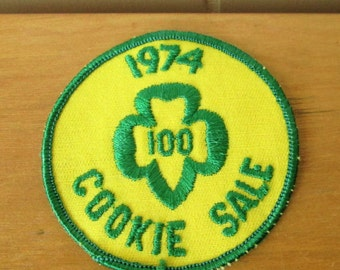 vintage Girl Scout cookie patch