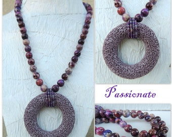 Passionate Handmade Bead Necklace with Free Earrings