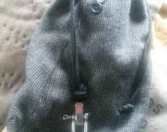 Bug-Out Stuff Bags - Mini - Drawstring - Gray Plaid