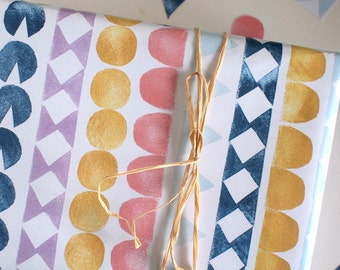 wigwam - eco friendly gift wrapping paper - A2 (42x59,4cm) - 2 sheets