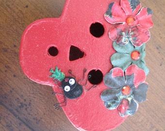 Paper Mache Skull Christmas Gift Box