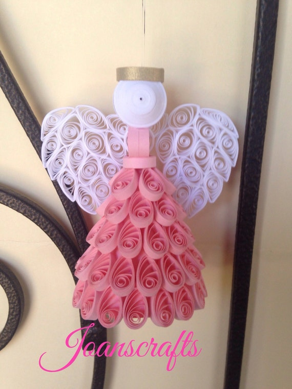 "Quilling, Angel Ornament, ""The Original"",  choose your color"