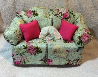 Paris Sofa Tissue Box Cover