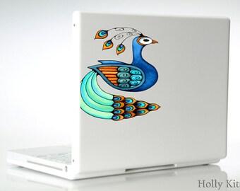 MacBook Decal Peacock Bird Laptop Vinyl Art Sticker