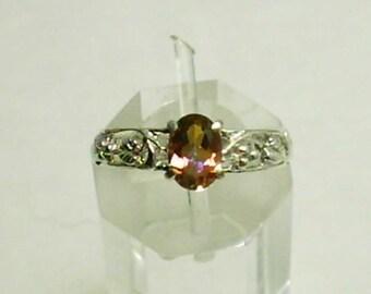 7x5mm Azotic Topaz Gemstone in 925 Sterling Silver Ring Size 5 December Birthstone