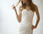 Silk and Lace Drop Waist Gown--Sample Sale--Size 12