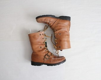 pile lined hiking boots / Ralph Lauren boots / size 7.5 boots