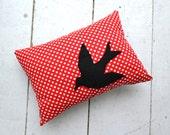 Blackbird Applique Pillow