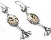 Mermaid Charm Jewelry, Charm Earrings, Vintage Mermaid Images, Crystal Mermaid Jewelry, Mermaid Charms, Dangle Earrings