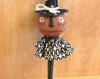 Pumpkin Witch Shaker Halloween Decoration
