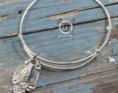 Stackable Spoon Bracelet - Interlude 1971 Pattern -  Handmade by Doctorgus from Recycled Vintage Sterling Silver Plated Silverware