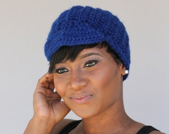 Royal Blue Hat - Cloche - Cap- Newsboy Hat