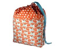 Sock Knitting Project Bag, Drawstring Knitting Bag, Crochet Bag, WIP Bag