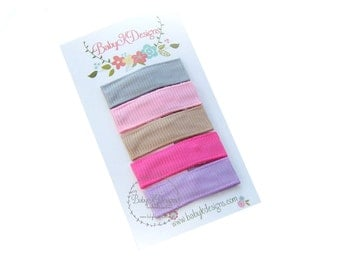 FIVE Baby Snap Clip. Newborn Hair Clip. Hair Clippies. No Slip Alligator Clip. Simple Everyday Hair Clip No Bow 2 Sizes More Colors