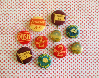 Vintage Lot of Sunday School Pin Backs