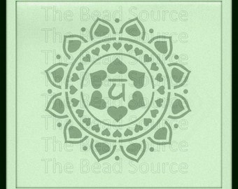 Heart Chakra Stencil, Yoga Stencil, Mylar Stencil, Chakra Symbol, Reusable Stencil, pochoir, chakra art, Om, Anahata, art stencil, painting