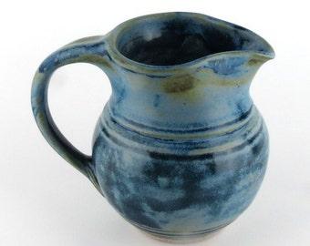 Stoneware creamer - small pottery pitcher - 16  oz. / handmade wheel thrown pottery