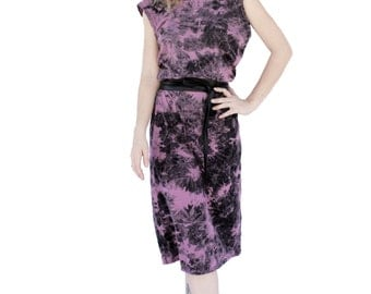 Agoraphobix purple tie dye slouch dress | boho dress | batique