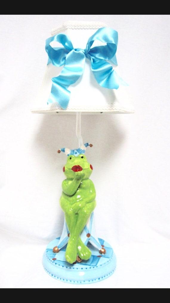 Frog Jester Lamp - kids room lamp - whimsical lighting - nursery lamp - frog decor