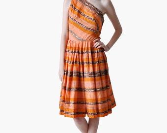 Vintage 50s One Shoulder Dress