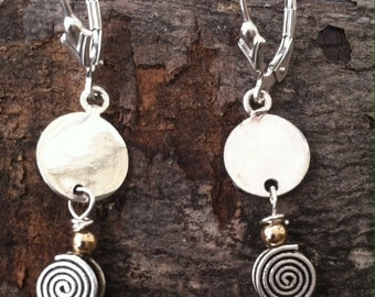 Delicate Sterling Spirals Earrings