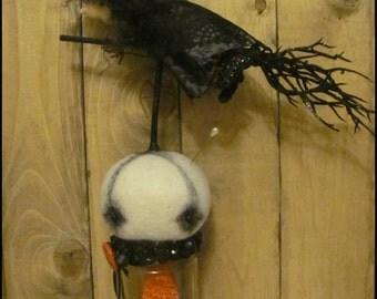 Halloween creepy witch jar Moon pin keep ooak doll whimsical gothic fall harvest decor cottage chic Primitive hafair ofg team faap