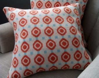 Red Circle Cushion / Pillow - Including Insert - red, white, blue, uk