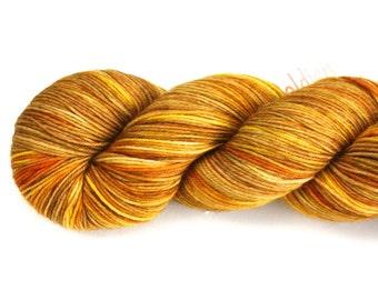 Sunflower--hand dyed sock yarn, merino and nylon, (463yds/100gm)